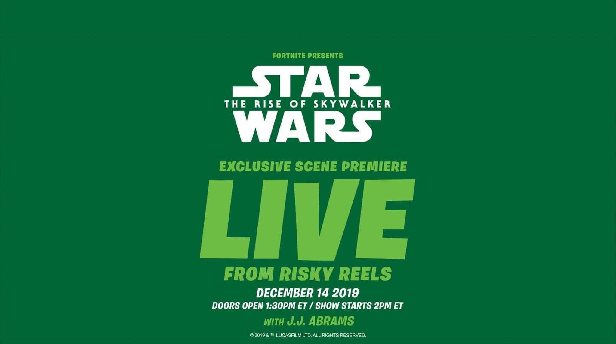 Fortnite Star Wars Trailer bei Risky Reels