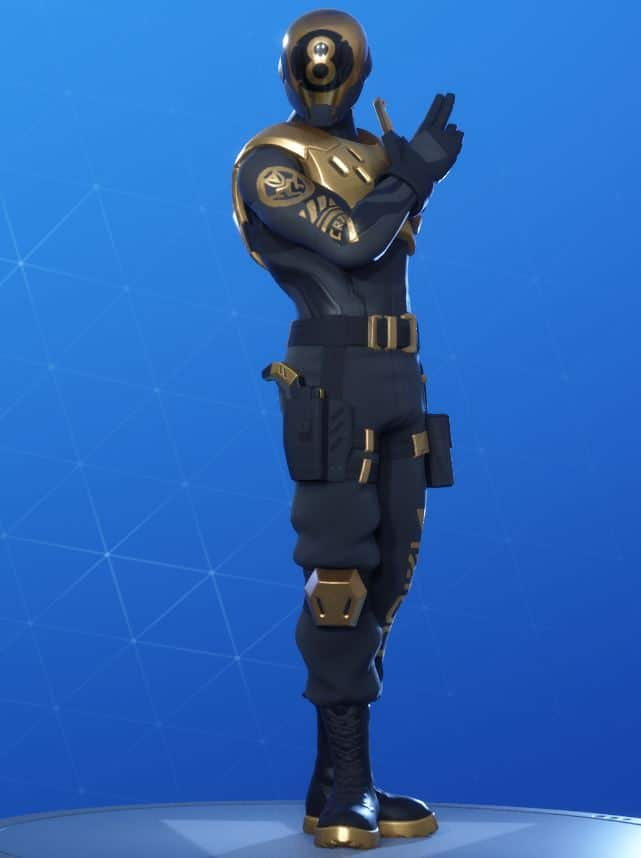 Fortnite Gold 8-Ball Skin Style