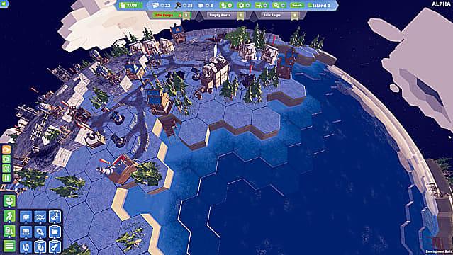 Aufbau und Verwaltung einer Kolonie in der Nähe des Ozeans in Before We Leave.