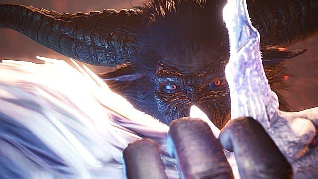 Rajang greift Kirin in Monster Hunter: World Iceborne.