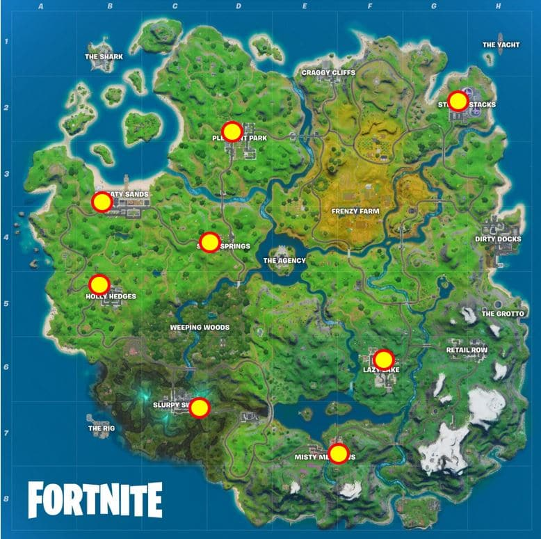 Fortnite Liefern Sie Fisch an Shadow Mailboxes Map Location