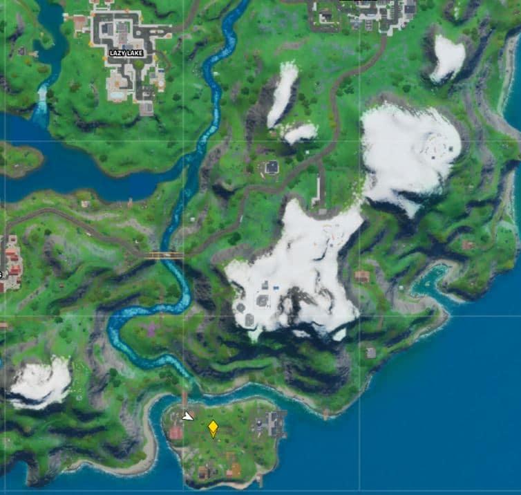 Fortnite Camp Cod Karte Lage