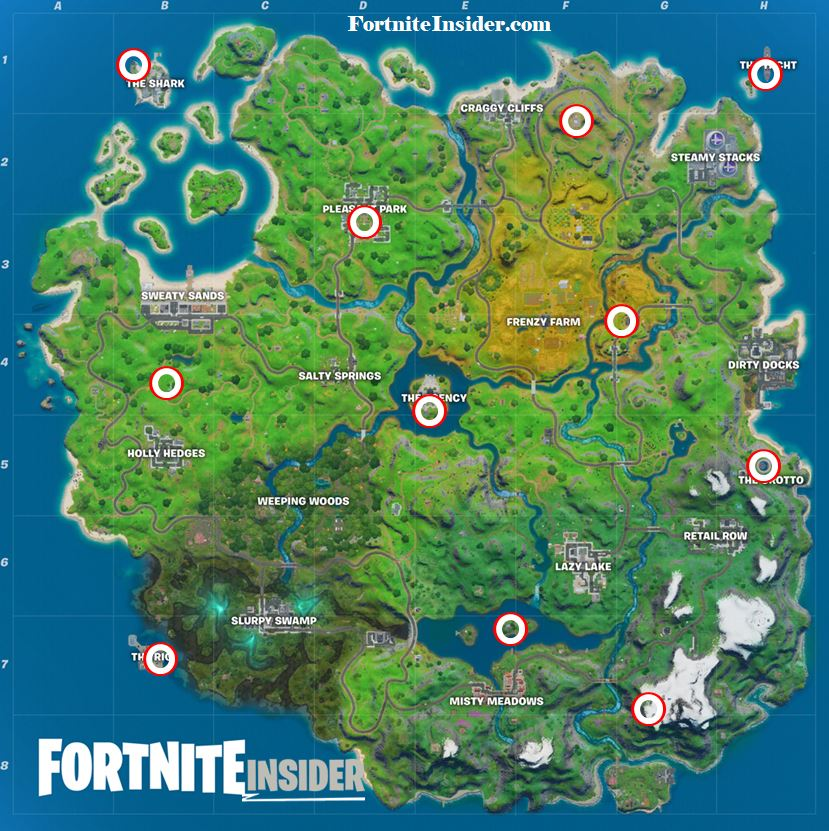 Fortnite All Helicopter Spawn Locations Karte