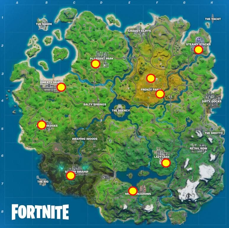 Fortnite Liefern Sie Fisch an Ghost Mailboxes Map Location