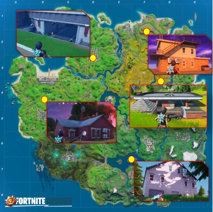 Fortnite Spy Bases Kartenstandort